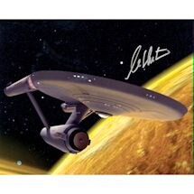 William Shatner Signed Star Trek Spaceship View 16x20 Photo
