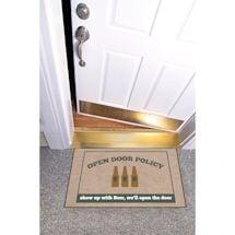 High Cotton Front Door Welcome Mats - Open Door Policy, Show up with Beer