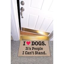 High Cotton Front Door Welcome Mats - I Heart Dogs, It's People I Can't Stand