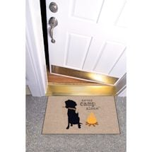 High Cotton Front Door Welcome Mats - Never Camp Alone Dog