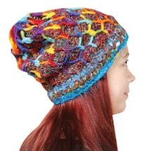 Recycled Silk Knit Accessories - Hat