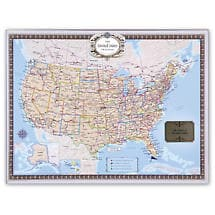 Unframed Personalized USA Traveler Map