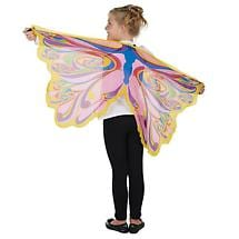 Rainbow Glitter Fairy Wings Slip-On Polyester