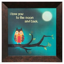 Love You to The Moon Framed Art