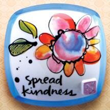 Spread Kindness Ceramic Pouf