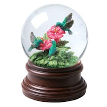 Hummingbirds & Hibiscus Musical Waterglobe