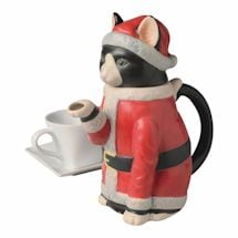 Christmas Cat Teapot