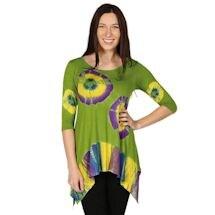 Knit Tie Dye Summer Tunic Top