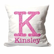Personalized Large Paisley Initial And Name Pillow