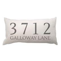 Personalized Address Lumbar Pillow