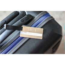 Monogrammed Genuine Leather Luggage Tag
