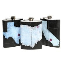 Personalized Recycled Bicycle Rubber Flask