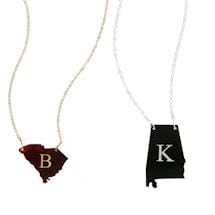 Personalized Acrylic State Cutout Necklace