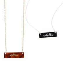 Personalized Acrylic Bar Necklace