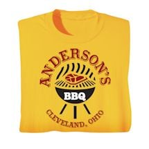 """Personalized """"Your Name"""" Charcoal Grill BBQ Tee"""