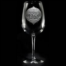 "Personalized ""Aged to Perfection"" Wine Glass"