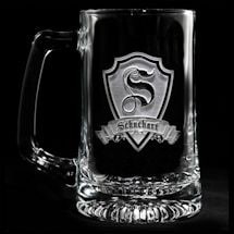 Personalized Shield Initial Beer Mug