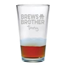 Personalized Brews Brother Single Pint Glass