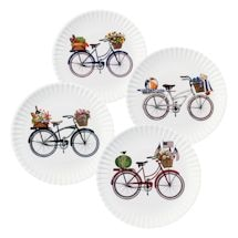"Summer Bikes Melamine Plates - 9"" - Set Of 4"