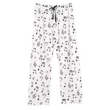 Here Comes Treble Loungewear Pants with Treble Clef and Music Notes - Inspired by The Office