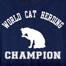 World Cat Herding Champion T-Shirt in Cotton