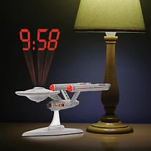 Star Trek Starship Enterprise LCD Projection Clock