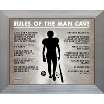 Man Cave Rules Original 11X14 Framed Photograph