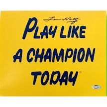Lou Holtz Play Like A Champion Today 8X10 Photograph