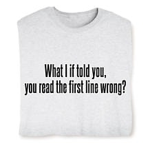 The First Line Wrong T-Shirt