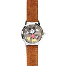 Vintage-Style Mickey Mouse Watch- Tan Band