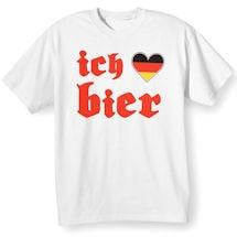 German Oktoberfest T-Shirts -Ich Heart Bier