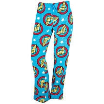 "Wonder Woman Fleece Lounge Pants - Plush Superhero ""Down-Time"" Pajamas"