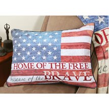 Home of The Free Fleece Pillow