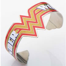 Wonder Woman Cuff Bracelet with Classic Logo