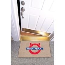 High Cotton Front Door Welcome Mats - Mind the Cat