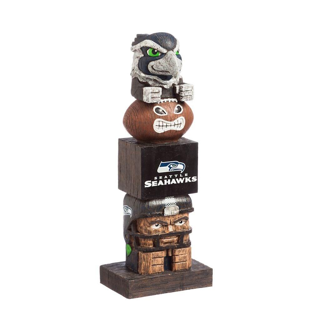 NFL Tiki Totem Pole Football Garden Statue   Seattle Seahawks